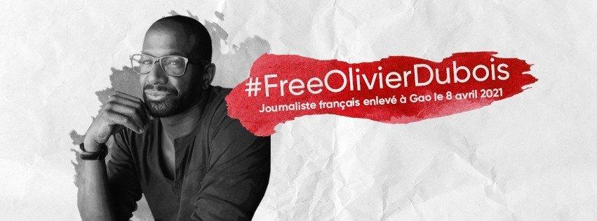 Deux mois et demi de captivité pour Olivier Dubois, pigiste otage au Mali. Nous ne l'oublions pas !